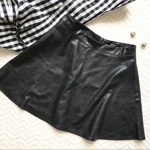 Forever21 Faux Leather Skater Skirt